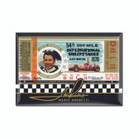 Mario Andretti 1970 Ticket 2x3 Magnet