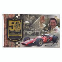 """Mario Andretti 50th Anniversary 3""""x5"""" Flag"""