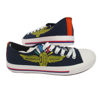 Wing Wheel and Flag Big Logo Canvas Shoes