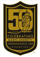 Mario Andretti 50th Anniversary Logo Lapel Pin
