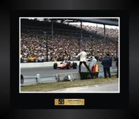 "Mario Andretti 16""x 20"" Finish Frame Piece"