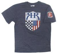 Ryan Hunter-Reay Logo Navy Triblend Tee