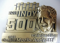 2019 Indy 500 Pit Badge Belt Buckle
