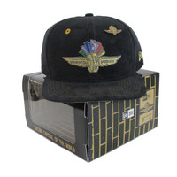 Wing Wheel and Flag Limited Edition Box Suede Lapel Pin New Era 9FIFTY Cap