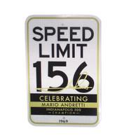 Mario Andretti 50th Anniversary 156 Metal Parking Sign