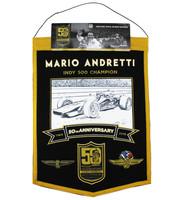 Mario Andretti 50th Anniversary Wool Banner