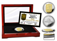 Mario Andretti 50th Anniversary Two Tone Coin Box
