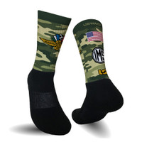 Wing Wheel and Flag Camo USwag Socks