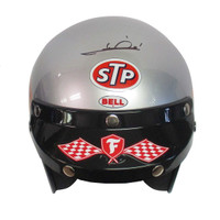 Mario Andretti Hand Autographed Full Size 1969 Helmet