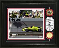 2019 Indy 500 Simon Pagenaud Winner Framed Piece