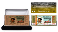 Mario Andretti 50th Anniversary Antique Copper Ticket