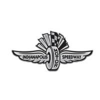 Indianapolis Motor Speedway Chrome Metal Auto Emblem