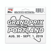 2019 Grand Prix of Portland Clear Event Decal