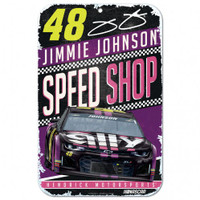"Jimmie Johnson Speed Shop 11""x 17"" Plastic Sign"