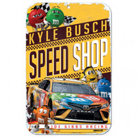 "Kyle Busch Speed Shop 11""x 17"" Plastic Sign"