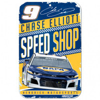 "Chase Elliott Speed Shop 11""x 17"" Plastic Sign"