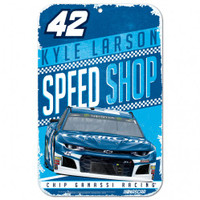 "Kyle Larson Speed Shop 11""x 17"" Plastic Sign"