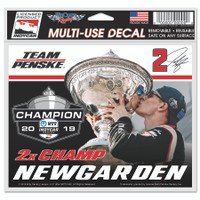 2019 NTT INDYCAR Series Josef Newgarden Champion Mutli-Use Decal