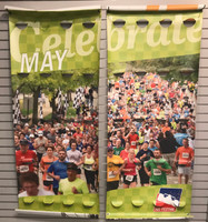 "100th Running Green Mini Marathon Picture 74"" x 90"" 2-Sided Banner"