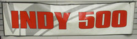 INDY 500 Grey/White Horizontal Banner