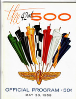 1958 Indy 500 Program