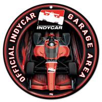 INDYCAR Car Garage Round Plastic Sign