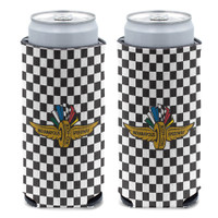Indianapolis Motor Speedway Slim Checkered Can Cooler