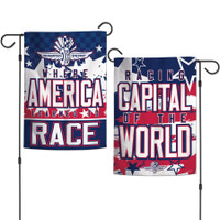 Indianapolis Motor Speedway Patriotic 2-Sided Garden Flag