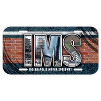 Indianapolis Motor Speedway Bricks License Plate