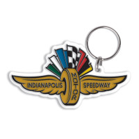 Wing Wheel and Flags PVC Keychain