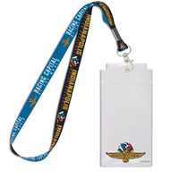 Wing Wheel and Flags Oversized Credential/Lanyard Set
