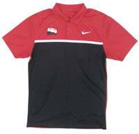 INDYCAR Dry Red/Black Colorblock Nike Polo