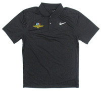 Indianapolis Motor Speedway Dry Victory Black Nike Polo