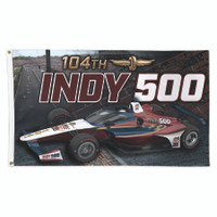 2020 Indy 500 Presented by GAINBRIDGE 3'x 5' Event Flag