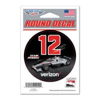 "Will Power ""12"" Verizon Round Decal"