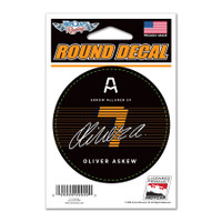 """Oliver Askew """"7"""" Round Decal"""