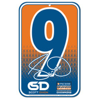 "Scott Dixon 11""x17"" Plastic Sign"