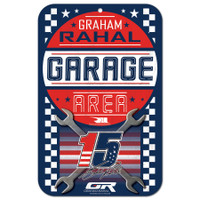 "Graham Rahal 11""x17"" Plastic Sign"