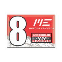 """Marcus Ericsson """"8"""" Driver Magnet"""
