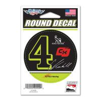 "Charlie Kimball ""4"" Round Decal"