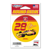 Ryan Hunter-Reay Round Driver Decal