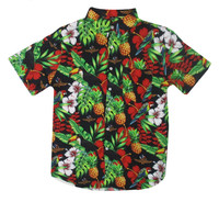 Wing Wheel and Flags Floral Button Up Shirt