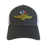 Wing Wheel and Flag Shadow Hex New Era 39THIRTY Cap