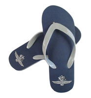 Wing Wheel and Flags Thong Flip Flops