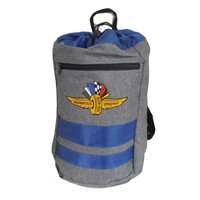 Wing Wheel and Flags Journey Backsack