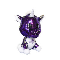 Wing Wheel and Flags Sequin Plush Unicorn
