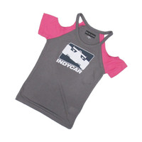 Girls INDYCAR Cold Shoulder Tee