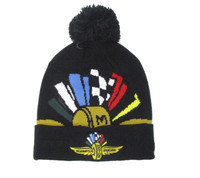 Wing Wheel and Flags New Era Pom Knit Cap