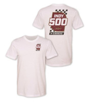 2020 August Indy 500 White Event Tee