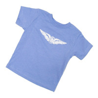 Girls Toddler Wing and Wheel Glitter Tee